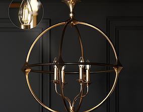 Casa Florentina Lando Orb 4-Light Chandelier 3D