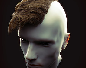 3D asset low-poly Undercut Hairstyle Low Poly 1