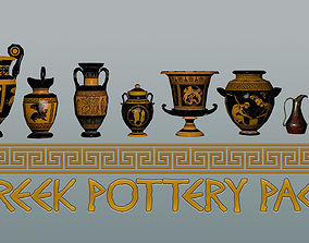 Ancient Greek Pottery Game Pack 3D asset