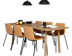 Fredericia Pato Chair and table Taro 3D