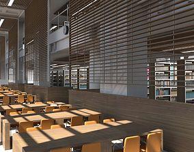 Library Interior 3d Scene