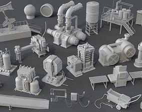 Factory Units 7 - 20 pieces 3D