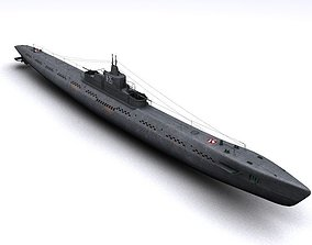 watercraft K-21 WWII Soviet Submarine 3D