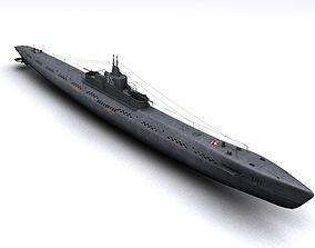 watercraft K-21 WWII Soviet Submarine 3D