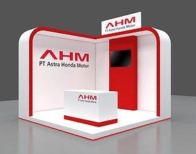 booth 3x3 minimalis modern 3D