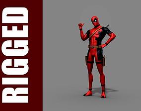 Deadpool Rig 3D model