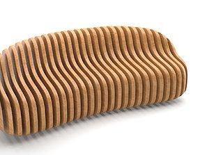3D exterior outdoor Parametric wooden bench