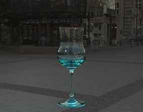 3D red wine glass version 2