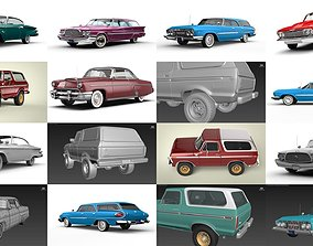 3D model Old school American cars