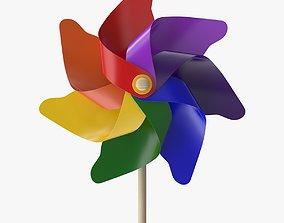 Pinwheel 3D asset low-poly