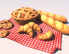 3D asset Cartoon Pastries
