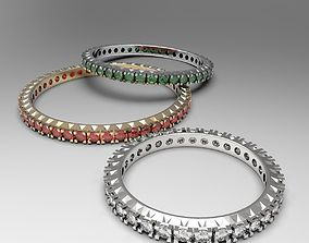 Thin eternity stackable ring set 3D print model