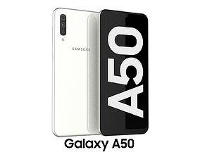 3D model Samsung Galaxy A50 White
