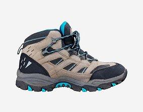 Hiking Walk Boot Footwear Shoe 3D model game-ready