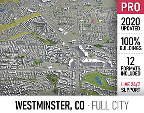Westminster - Colorado - city and surroundings 3D model