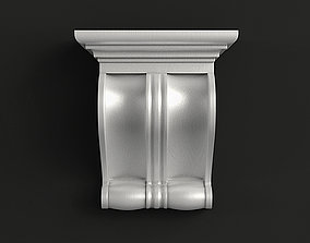 Carved corbel 3D model decor