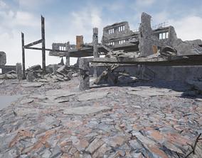 3D asset Modular City Ruin Kit