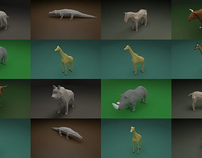Low Poly Animals 3D model predator