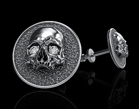 3D print model character skull earrings studs