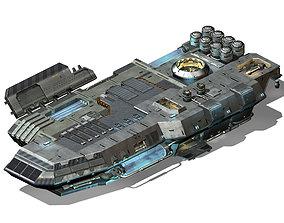 3D Space Station - Ground Operating Platform 01