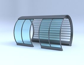 3D model busstop Bus station