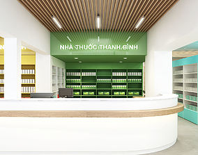 Pharmacy interior modern 3D