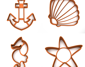 3D printable model Cookie cutter - Sea Pack