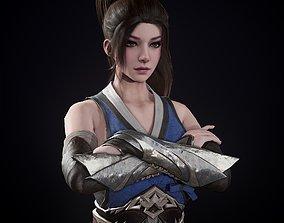 AssassinGirl2 3D asset