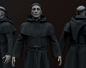 Monk 3d model low-poly