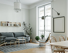 Caglilari ArchViz - Scandinavian interior scene 3D