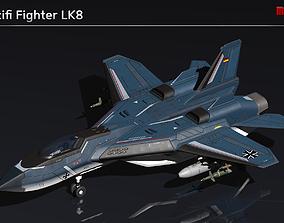 Scifi Fighter LK8 3D model