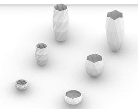 Geometric Planters - Type 1 and 3D print model