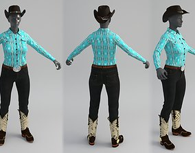 3D Cowgirl Clothes