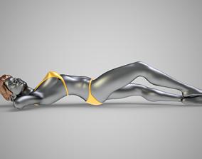 3D model Bikini Lying Woman