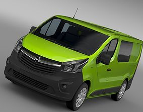 3D model Opel Vivaro MultiVan EcoFlex 2017