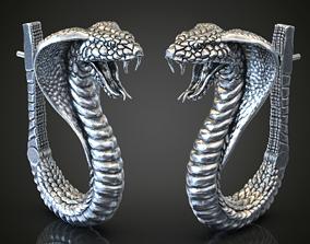 Cobra snake earing 2 size for 1 price 3D print model