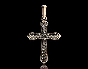 Stylish cross with precious stones 488 3D print model