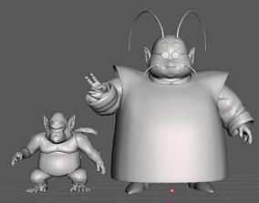King Kai and Bubbles 3D Model
