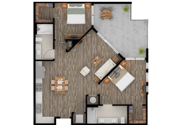 Color 2D Floor Plan Rendering Services fo Property Owners Phoenix Arizona