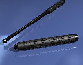 3D model Telescoping Baton