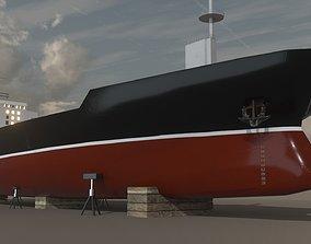 3D asset Cargo Ship 02