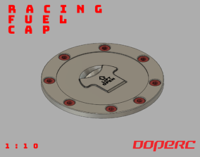 1to10 RC Scale Racing Fuel Cap 3D printable model