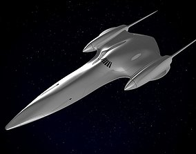 3D Naboo Queens Royal starship J-type 327 sci