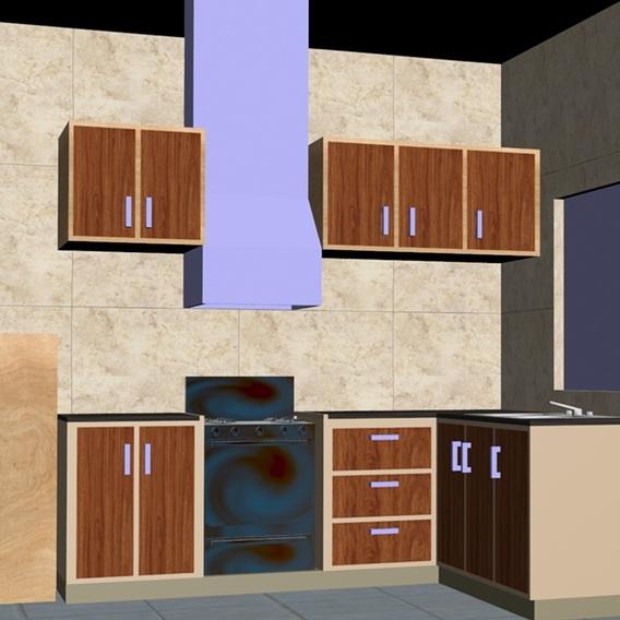 Kitchen interior plan