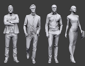 Lowpoly People Business Pack 3D asset