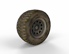 3D asset Old Wheel v05