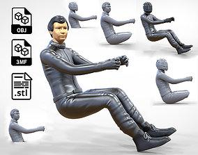 3D print model N3 Sitting Race Driver 1 64 Miniature