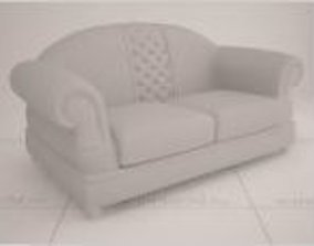 3D print model Sofa Leather White