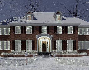 House - Christmas Snow 3D