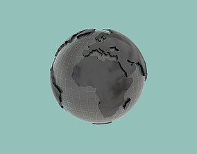 worldmap realtime Earth low-poly 3dmodel